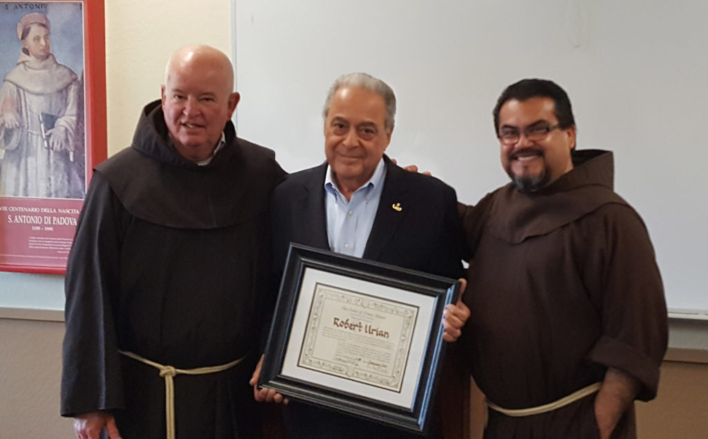 Bob Urian Receives Highest Honor by the Franciscans