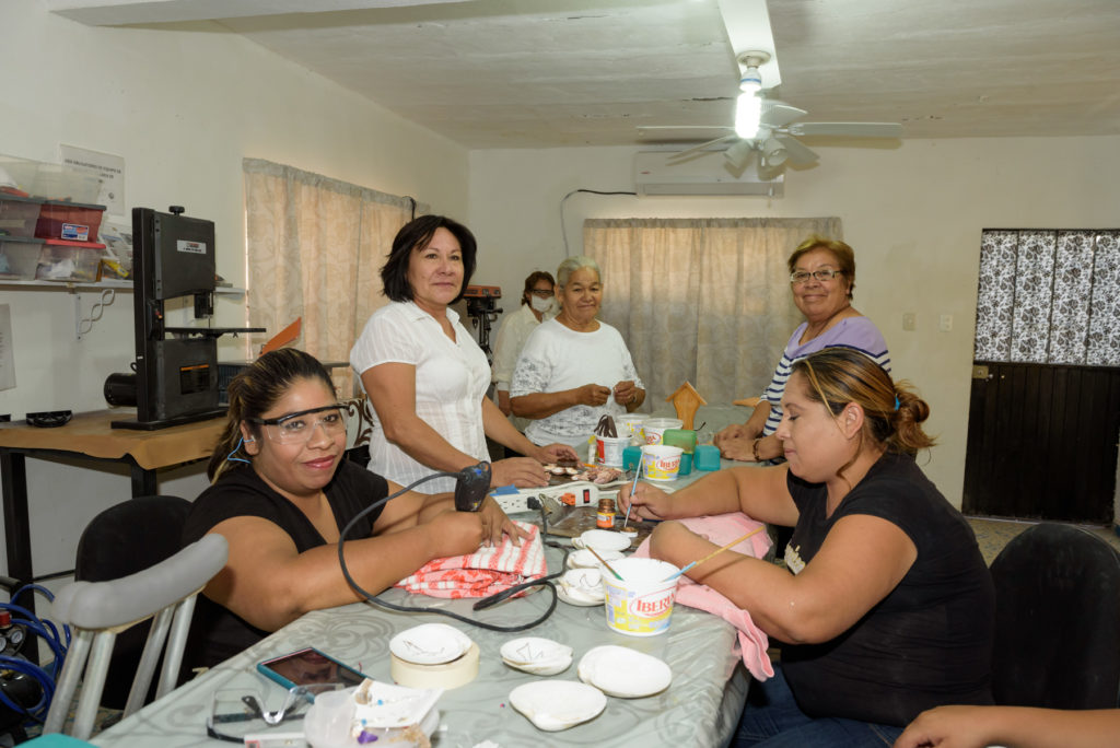 An income path and support group for 17 widowed women through learning jewelry making in the Mission co-op